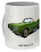 1969 Green Pontiac Gto Convertible Coffee Mug