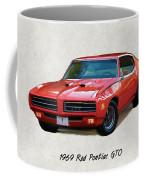 1969 Red Pontiac Gto The Judge Coffee Mug