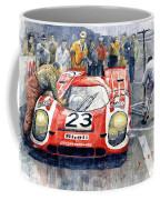 1970 Le Mans 24 Porsche917k Attwood Herrmann Winner  Coffee Mug