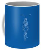 1973 Astronaut Space Suit Patent Artwork - Blueprint Coffee Mug