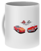 1986 And 1961 Corvettes Coffee Mug
