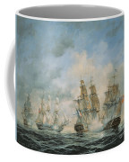 19th Century Naval Engagement In Home Waters Coffee Mug by Richard Willis
