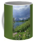 1m9236 Mt. Moran And Sticky Geranium Coffee Mug