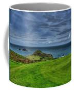 1st Green Cape Cornwall Golf Club Coffee Mug by Chris Thaxter