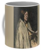 A Girl Reading A Book Coffee Mug
