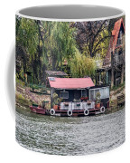 A Raft House Moored To The Shoreline Of Ada Medjica Islet Coffee Mug