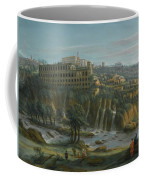 A View Of The Waterfalls And The Villa Of Maecenas Coffee Mug