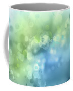 Abstract Blue Green Circles 3 Coffee Mug