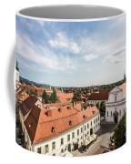 Aerial View Of Zagreb In Croatia Coffee Mug