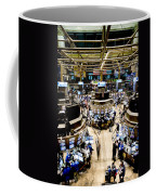 An High Angle View Of The New York Coffee Mug by Justin Guariglia