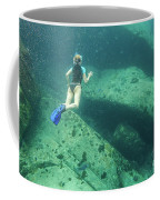 Apnea In Tropical Sea Coffee Mug