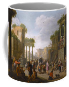 Architectural Ruin With A Crowd Coffee Mug