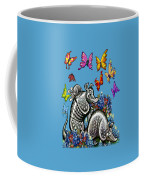 Armadillos Bluebonnets And Butterflies Coffee Mug