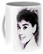 Audrey Hepburn, Vintage Actress Coffee Mug