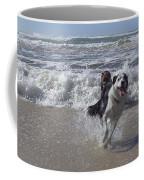 Australia - Border Collie Runs Out Of The Surf Coffee Mug