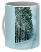 Bad Road Conditions While Driving In Winter Coffee Mug