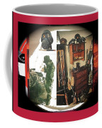 Barry Sadler And Part Of His Weapon's Nazi Memorabilia Collection Collage Tucson Arizona 1971-2013 Coffee Mug