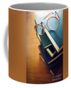 Books And Glasses Coffee Mug