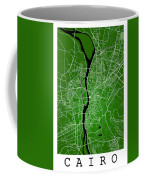 Cairo Street Map - Cairo Egypt Road Map Art On Colored Backgroun Coffee Mug