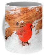 #2 Cardinal In Snow Coffee Mug