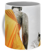 Carved Stone Buddha Statue Wat Temple Complex In Old Siam Kingdom, Ayutthaya, Thailand Coffee Mug
