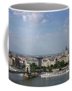 Chain Bridge On Danube River Budapest Cityscape Coffee Mug