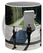 Changing Of Guard At Arlington National Coffee Mug by Terry Moore