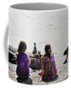 Children At The Pond 5 Coffee Mug