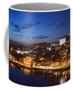 City Of Porto In Portugal By Night Coffee Mug