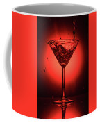 Cocktail Glass With Splashes On Red Background Coffee Mug