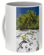 Coconut Palms On A Polynesian Beach Coffee Mug