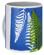 Cyanotype Print, Fern Coffee Mug