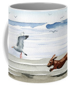 Dachshund At The Beach  Coffee Mug
