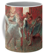 Dancers At Rehearsal Coffee Mug by Edgar Degas