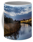 Dawn Over The Town River Coffee Mug