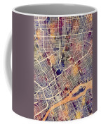Detroit Michigan City Map Coffee Mug