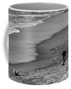 2 Dogs 2 Men Beach  Coffee Mug