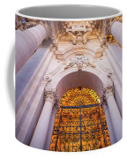 Entrance Of The Syracuse Baroque Cathedral In Sicily - Italy Coffee Mug