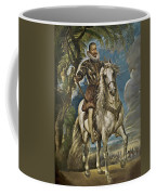 Equestrian Portrait Of The Duke Of Lerma Coffee Mug