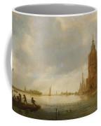 Fishing Boats Off An Estuary Coffee Mug