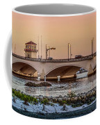Flagler Bridge In Lights Panorama Coffee Mug