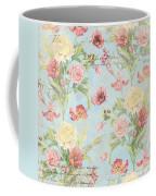 Fleurs De Pivoine - Watercolor In A French Vintage Wallpaper Style Coffee Mug