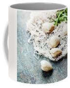 Food Background With Seafood And Wine Coffee Mug