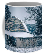 Fresh Snow Sits On The Ground Around An Old Barn Coffee Mug
