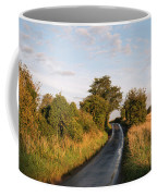 Freshly Harvested Fields Of Barley In Countryside Landscape Bath Coffee Mug