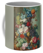 Fruit And Flowers In A Terracotta Vase Coffee Mug