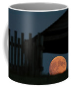 Full Moon Seen Through Old Building Window Coffee Mug