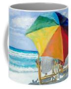 Beach Umbrella By Marilyn Nolan-johnson Coffee Mug