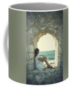 Girl At The Sea Coffee Mug