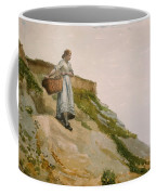 Girl Carrying A Basket  Coffee Mug
